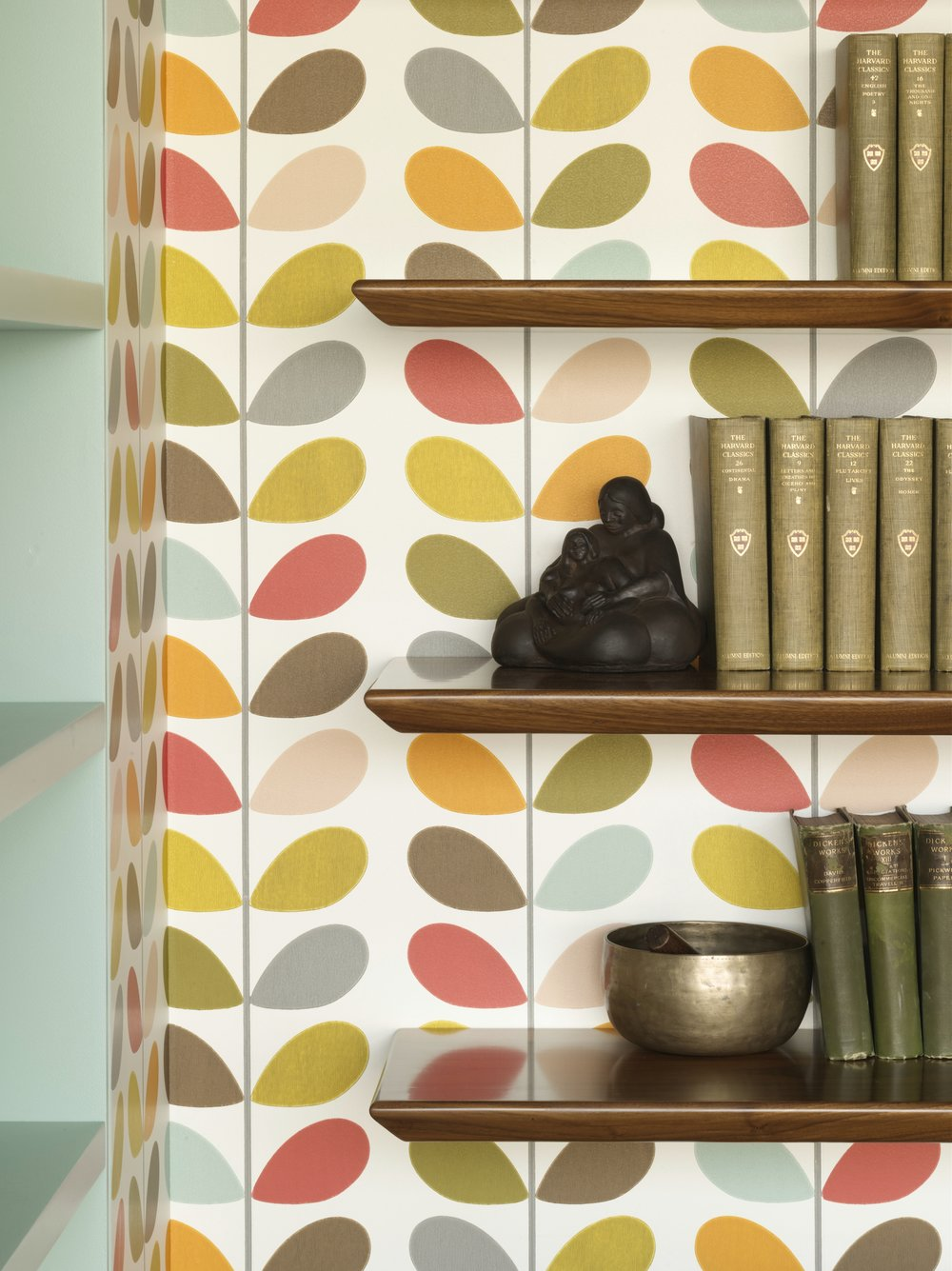 Bohemian Apartment Study Wall and Shelf Detail