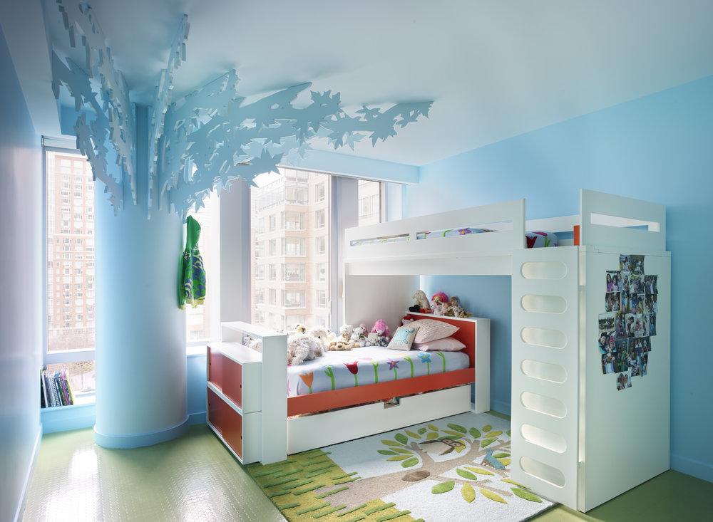 Bohemian Apartment Girls Bedroom Bunk Beds