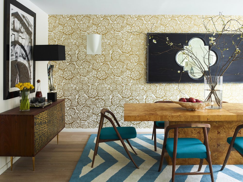 101 W 87th Street Dining Room Table and Credenza