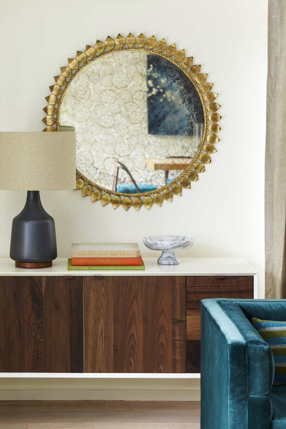 101 W 87th Street Living Room Cabinet and Mirror