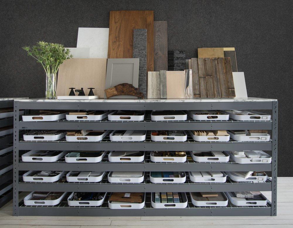 INC Architecture & Design Sample Shelves
