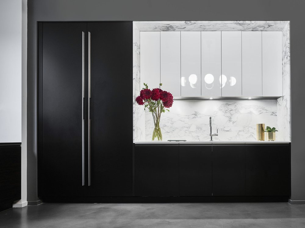 Corcoran Chelsea Kitchen Sink and Refrigerator