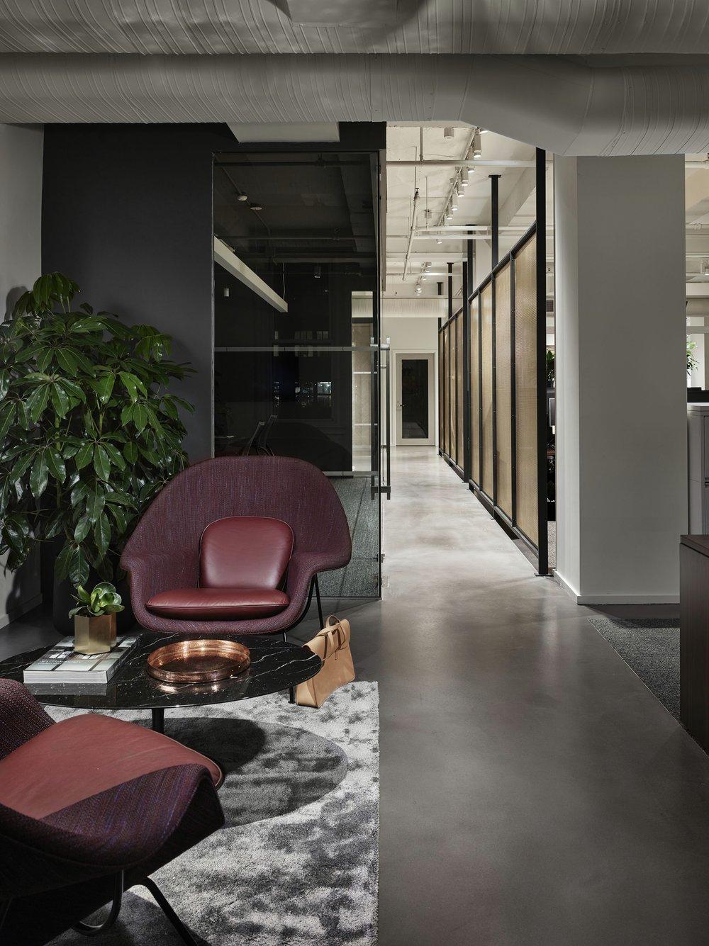 Corcoran Chelsea Hallway Seating Area
