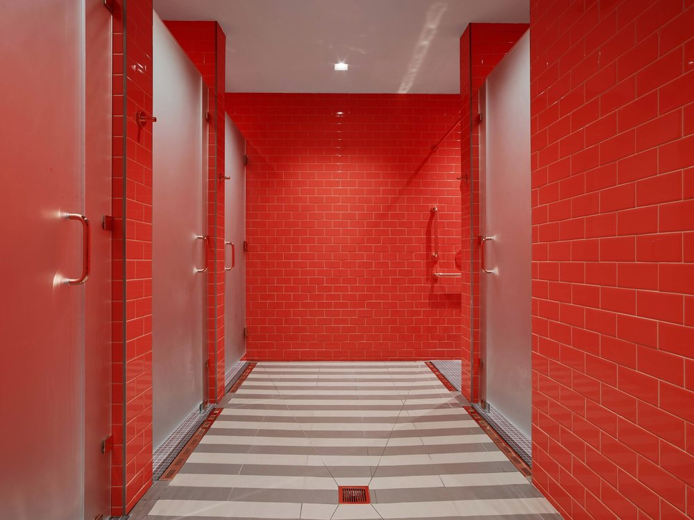 Industry City Athletic Club Locker Room Showers