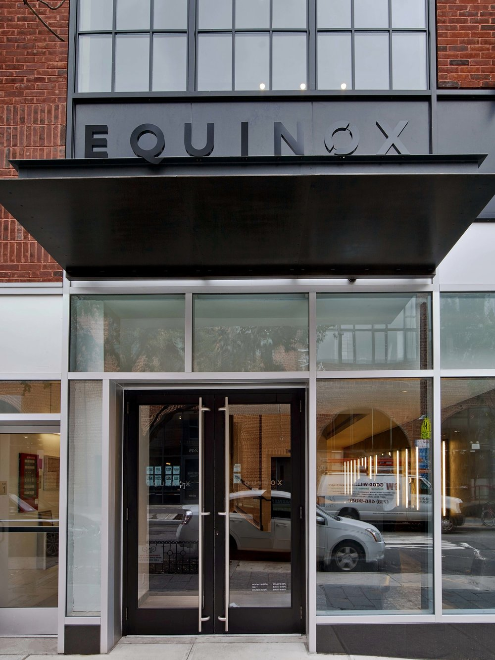 Equinox Williamsburg Exterior Door and Sign