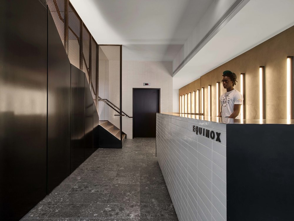 Equinox Williamsburg Front Desk and Stairs