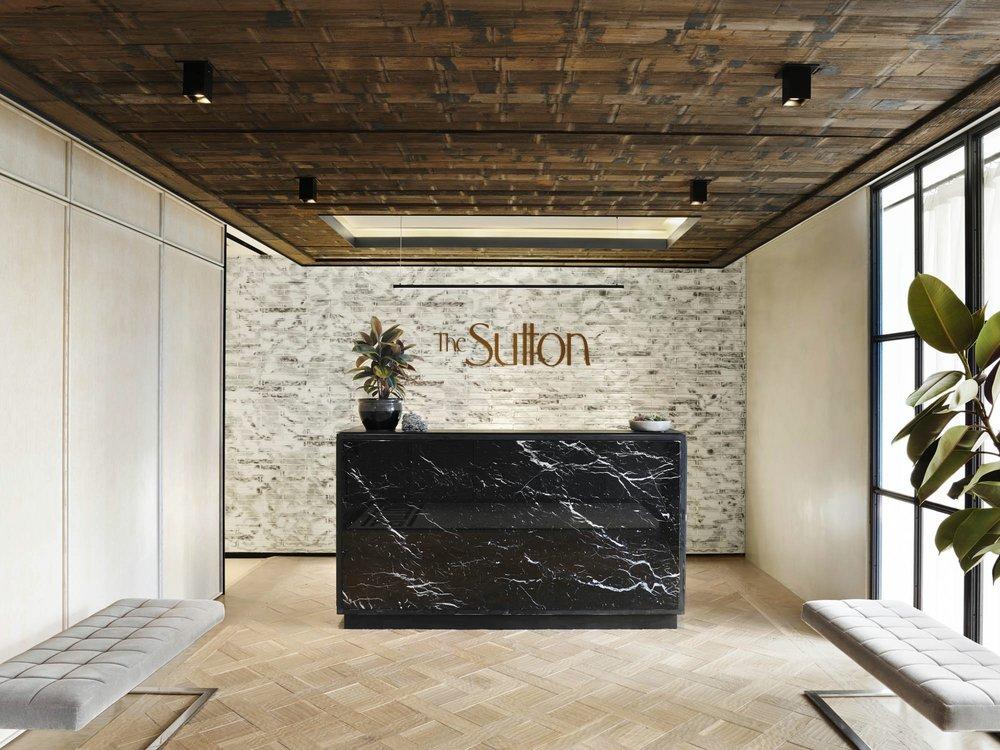 The Sutton Condominium Sales Office Reception Area