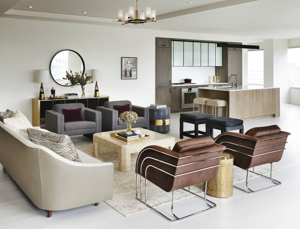 The Sutton Condominium Sales Office Sitting and Kitchen Areas