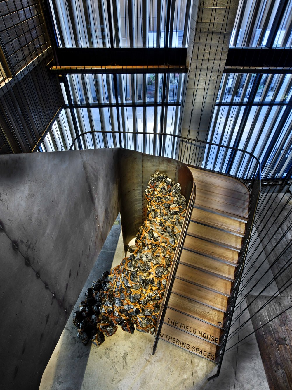 1 Hotel Brooklyn Bridge Stairs from Above