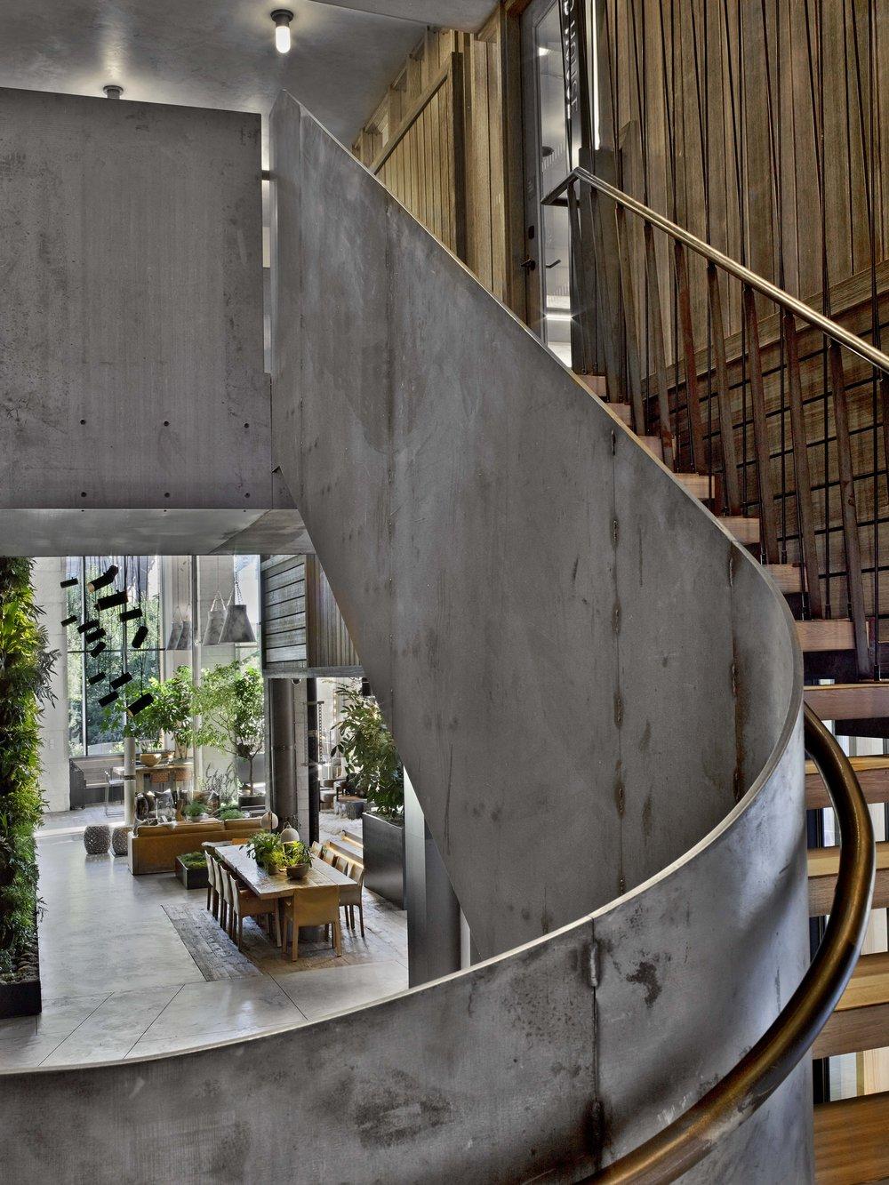 1 Hotel Brooklyn Bridge Stairs and Lobby