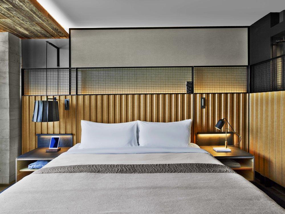 1 Hotel Brooklyn Bridge Guestroom Bed