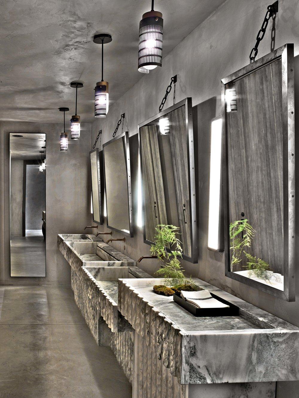 1 Hotel Brooklyn Bridge Public Bathroom Sinks