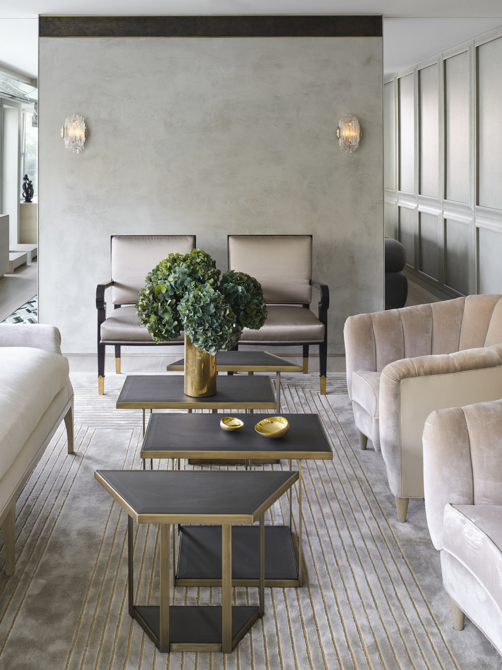 West 72nd Street Apartment Living Room Detail