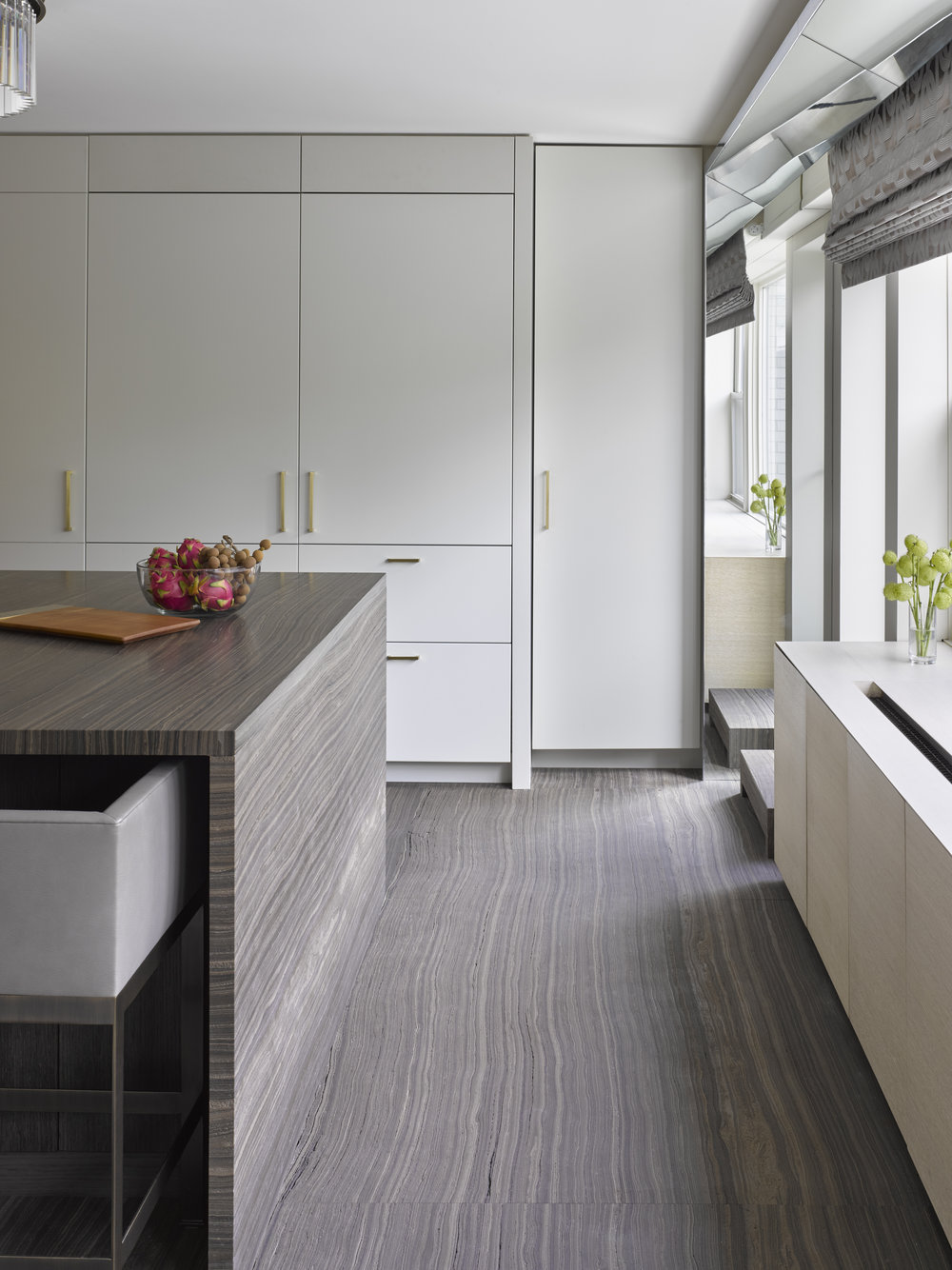 West 72nd Street Apartment Kitchen Island and Cabinet Details