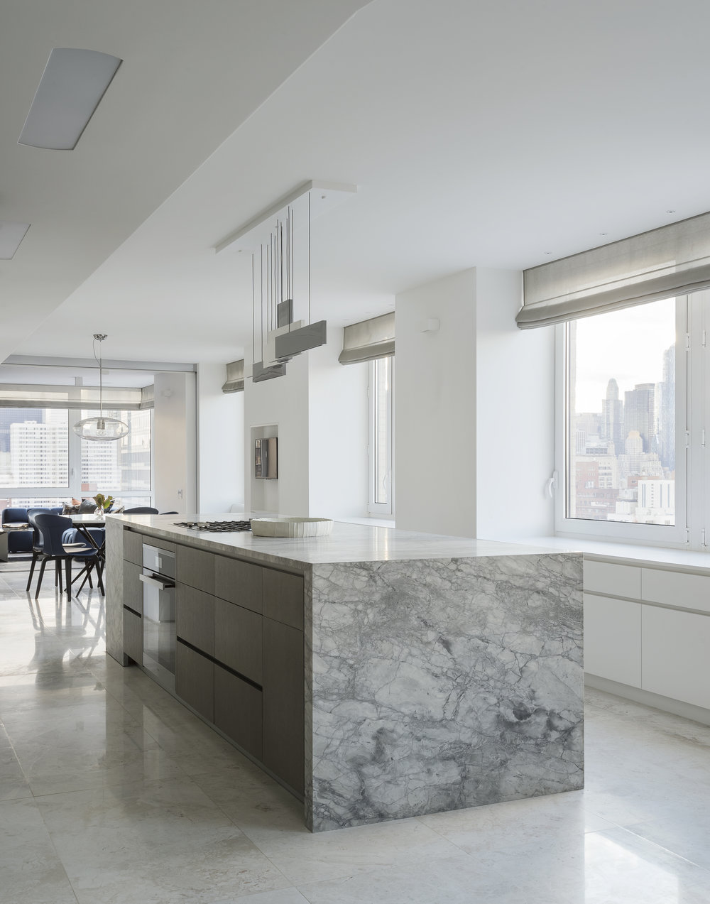 East 77th Street Apartment Kitchen Island and Table