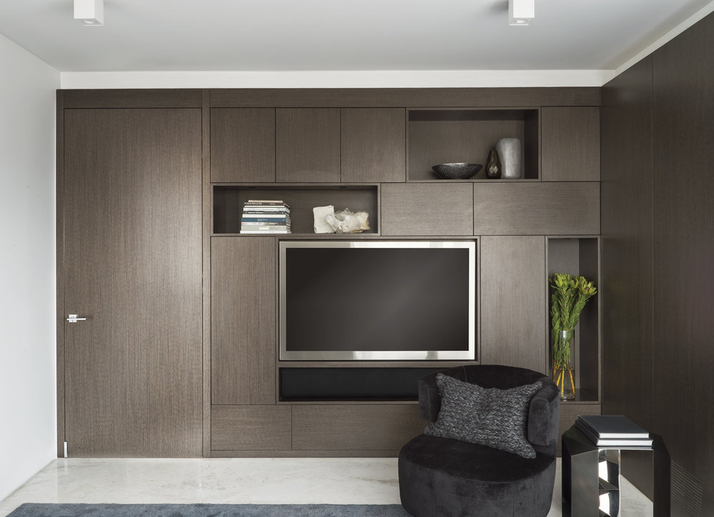 East 77th Street Apartment Family Room TV Wall