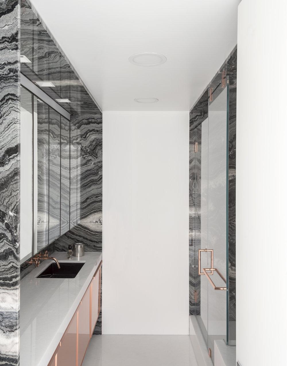 East 77th Street Apartment His Bathroom