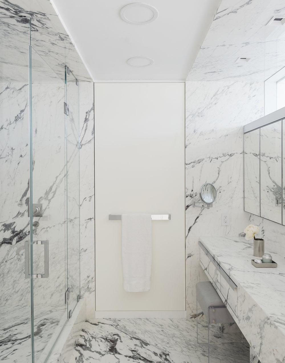 East 77th Street Apartment Her Bathroom