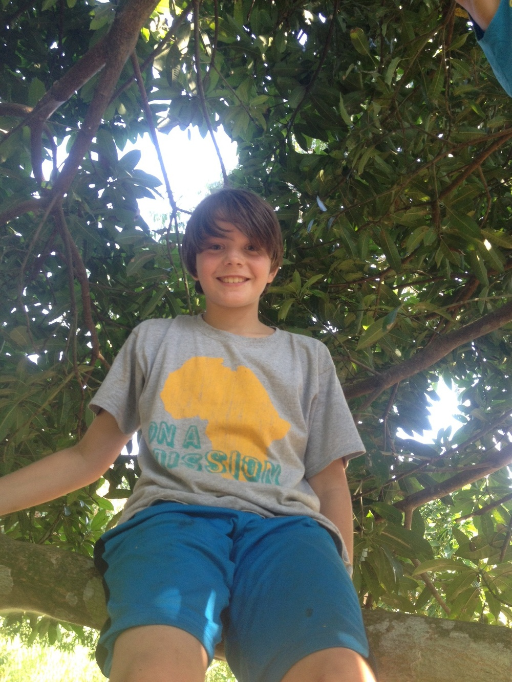 """There is no better place to hang out than a Mango tree!"" -Karson"