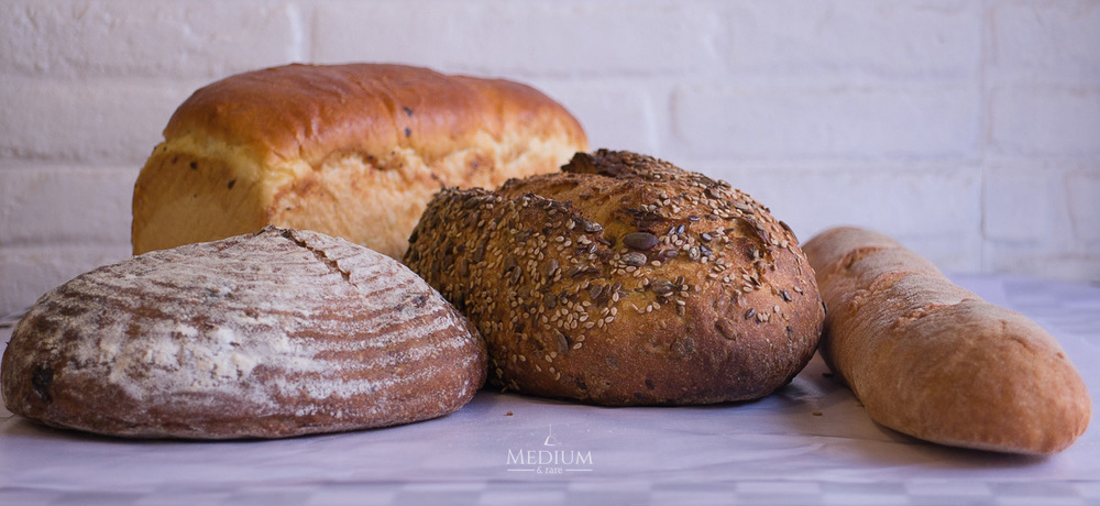 Variety of artisan breads from 'The Bakers Dozen'.