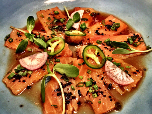 Salmon Carpaccio at The Fatty Bao                                (Image Courtesy : Karan Karayi)