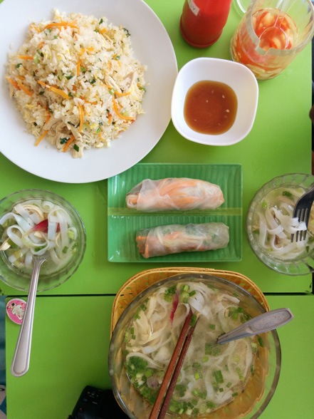 Vietnamese fare at Smiley House.