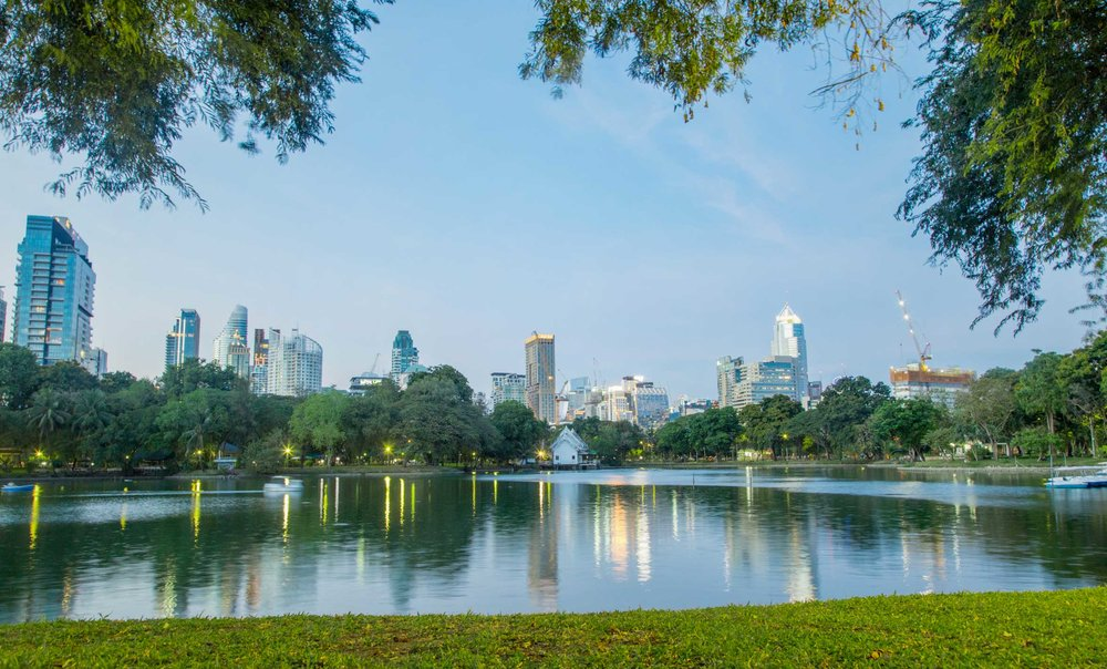 2. Lumphini Park - Apart from providing a magnificent panoramic view of the city, Lumphini is a lush green patch in the middle of the concrete labyrinth spreading over 142 acres offering a rare public space that features a full periphery jogging track, a youth center, public library, food court and just tons of open space where each evening hundreds of locals join in for an aerobics workout! Visit Lumphini to participate or just breathe it all in.