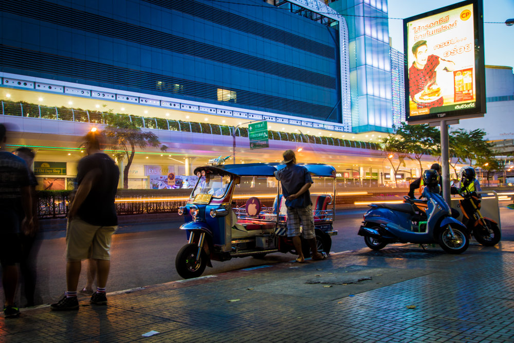6. Tuk-Tuk - Nothing is more synonymous with Bangkok than these three-wheeled whizzers. Tuk-Tuks can tightly fit three people in the back, and are mostly pimped up with neon lights, loud exhaust and stereo systems. They are a fun way to experience Bangkok, but can prove to be quite expensive especially for tourists. Always bargain before you hop in.