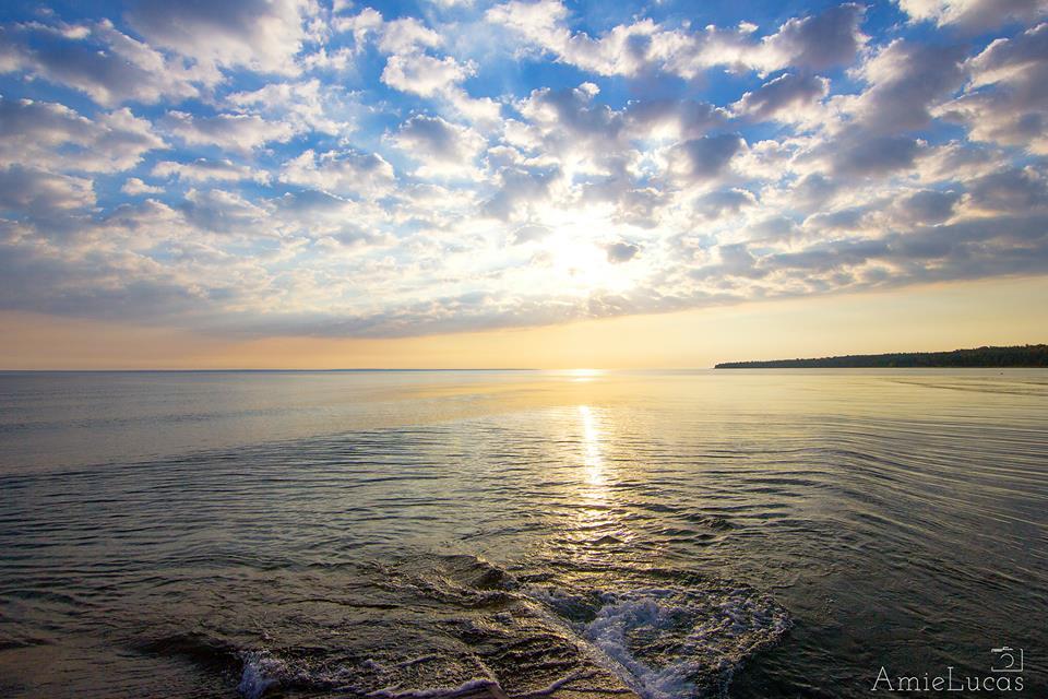 Morning Sun over Lake Michigan