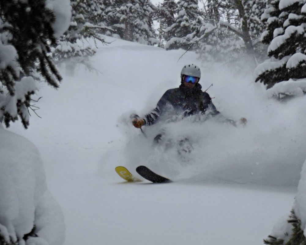 DEEP powder skiing at Montana's best hut.