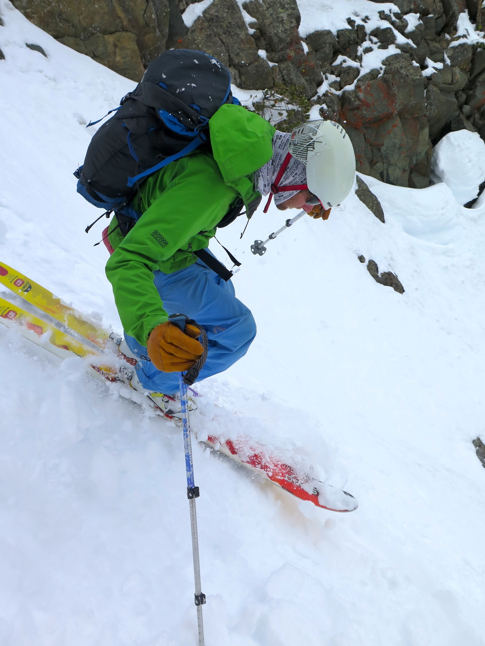 Big Sky Backcountry Guides getting steep and deep