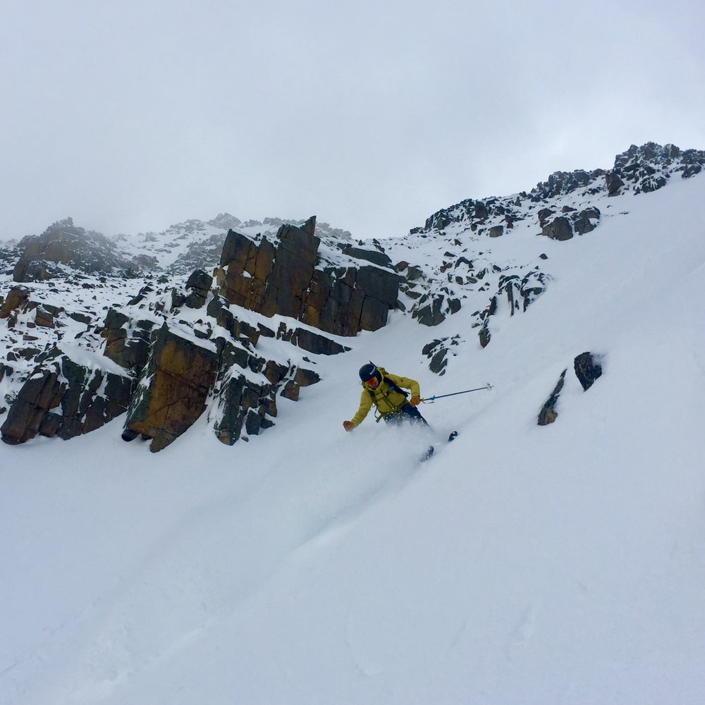Steep and deep skiing with Big Sky Backcountry Guides!