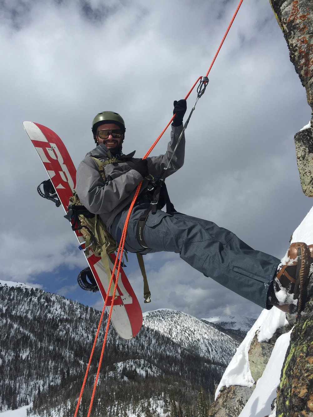 Learn to build anchors and safely rappel with Big Sky Backcountry Guides