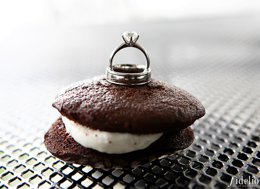 Whoopie Pie Wedding Ring Shot