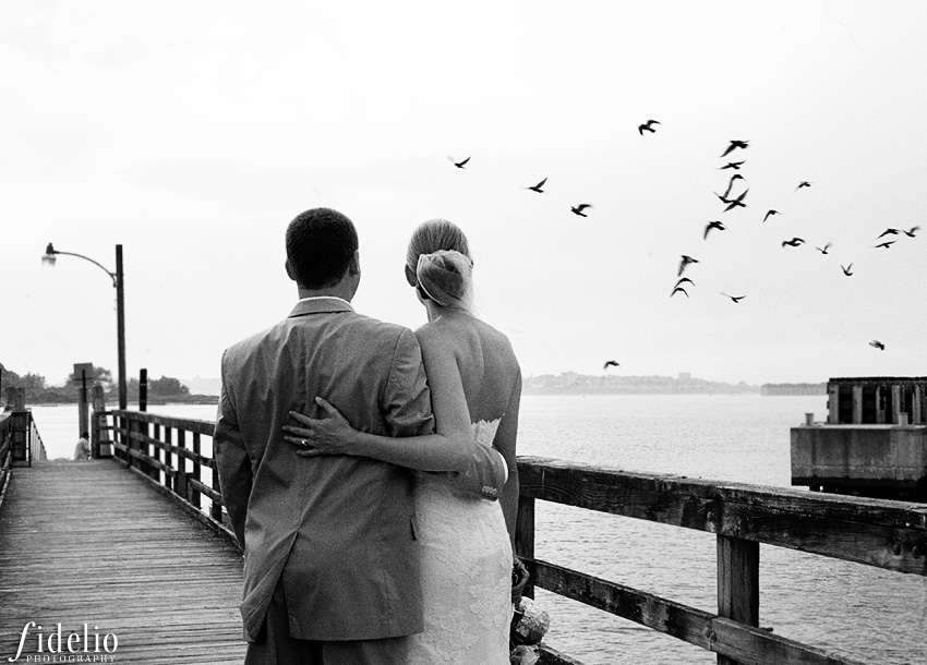Peaks Island wedding portrait
