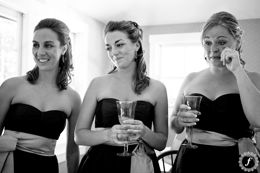 teary bridesmaids