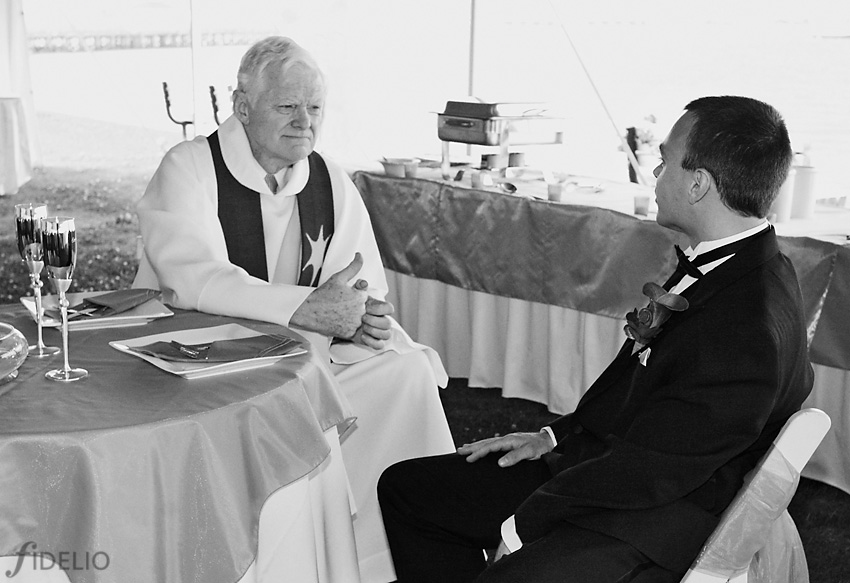 groom and priest