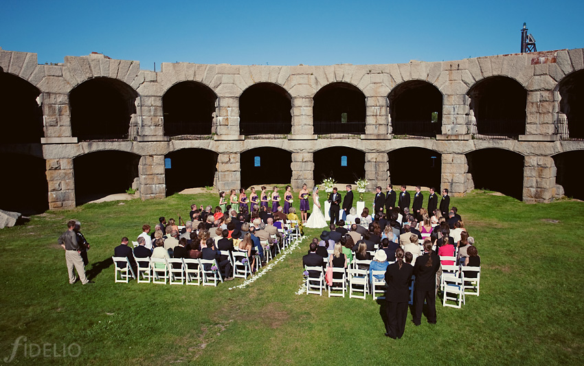 fort popham maine wedding