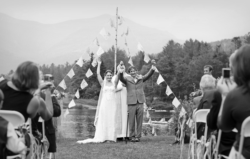 wedding ceremony mountains