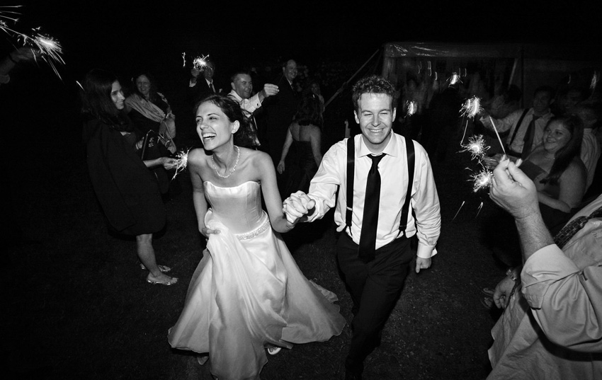 sparkler exit - Hildene Estate Wedding