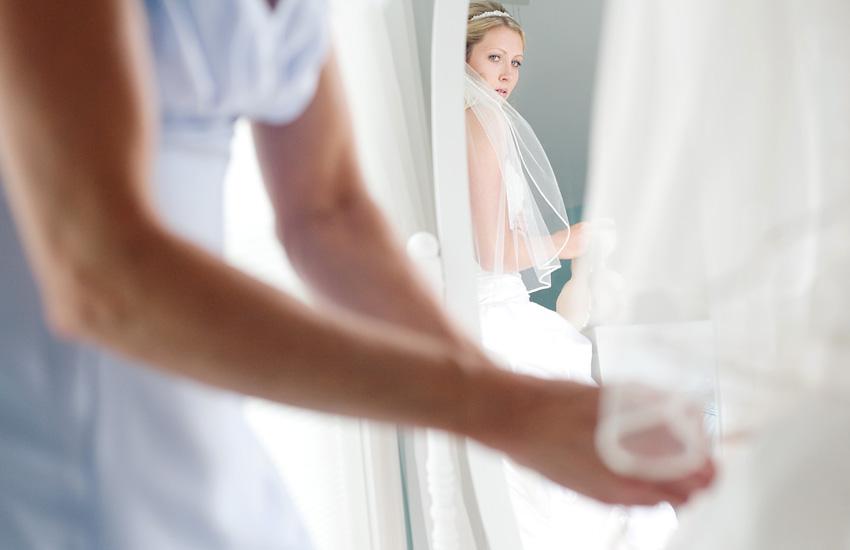 Bride Dressing for Wedding
