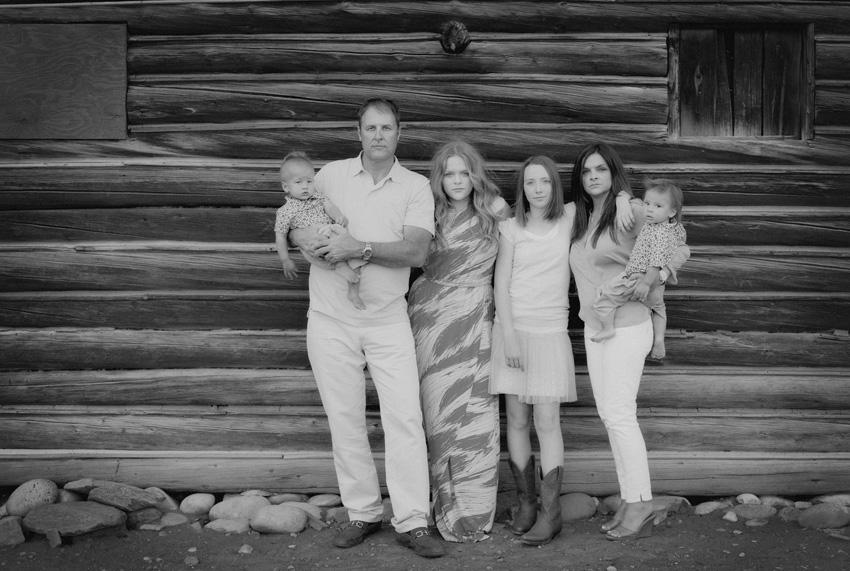 family photo in wyoming