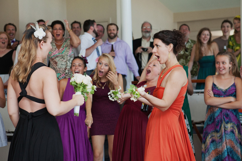 Bouquet Toss Moment