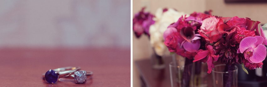 wedding rings & flowers