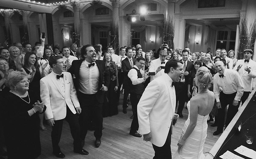 bride & groom singing, Mt Washington Hotel