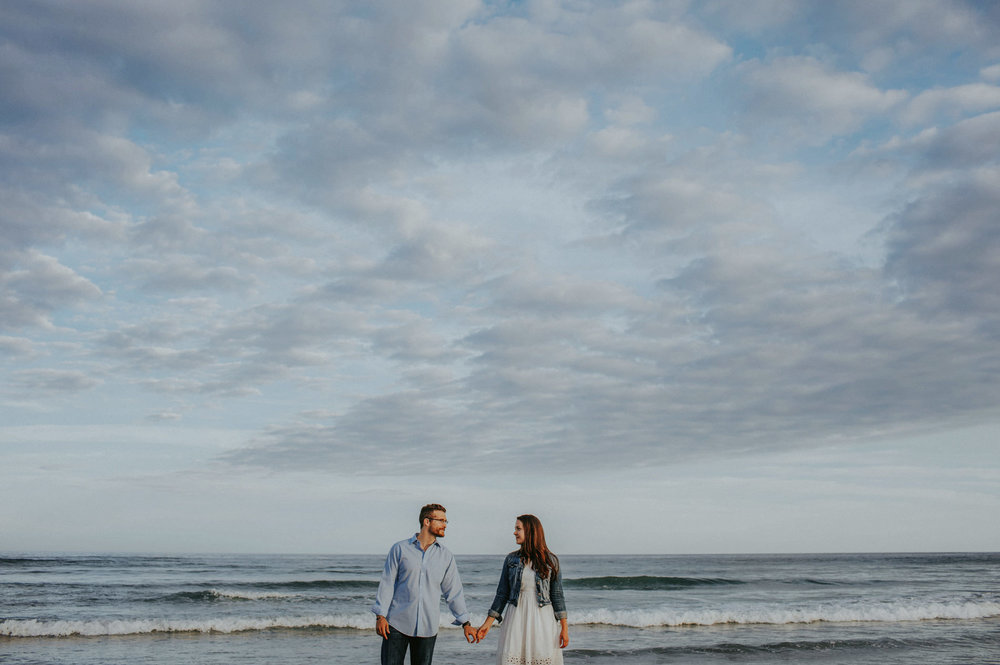 beautiful sky engagement session maine beach