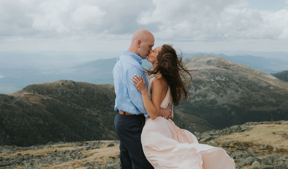 engagement shoot in mountains