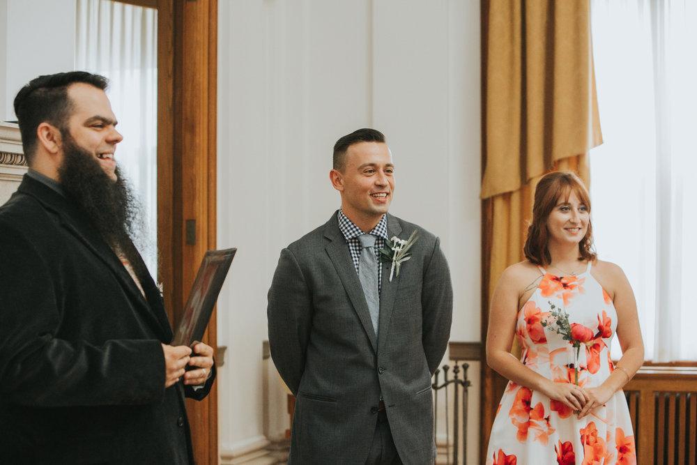 Portland, Maine City Hall elopement ceremony