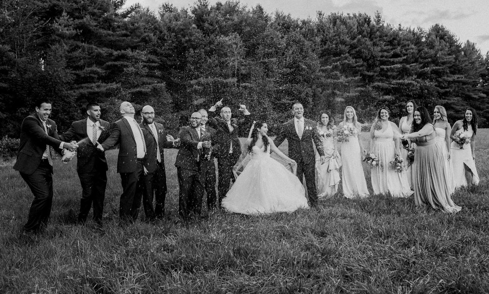champagne toast - maine wedding