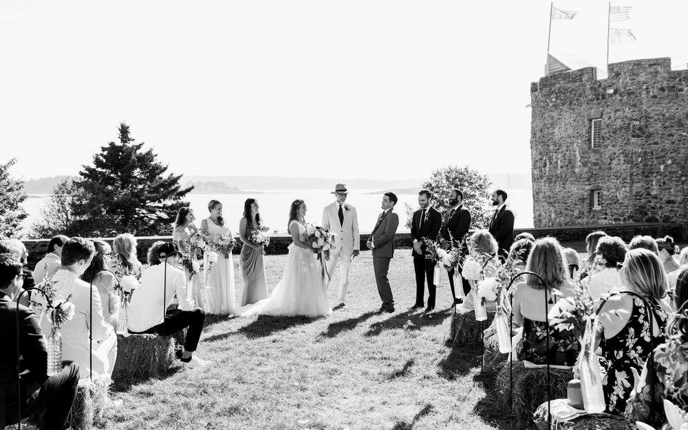 Wedding ceremony mid coast Maine